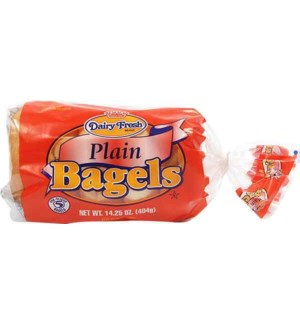 DAIRY FRESH PLAIN BAGELS 14.25OZ