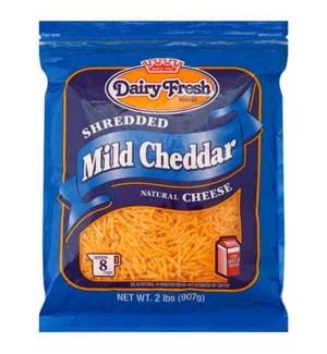 DAIRY FRESH SHREDDED MILD CHEDDAR CHEESE 2 LB