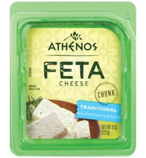 ATHENOS FETA CHEESE CHUNK TRADITIONAL 8OZ