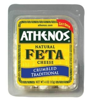 ATHENOS FETA CHEESE CRUMBLED TRADITIONAL 4OZ