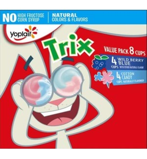 YOPLAIT TRIX COTTON CANDY/WILD BERRY 8PK
