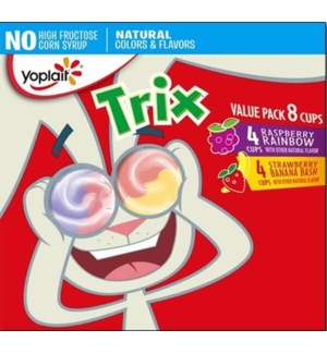 YOPLAIT TRIX RASPBERRY/STRAWBERRY BANANA 8PK