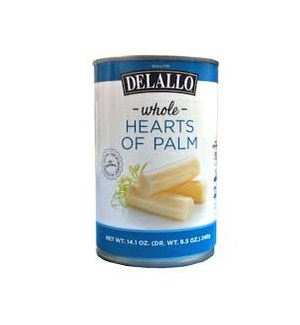 DELALLO WHOLE HEARTS OF PALM 14.1OZ