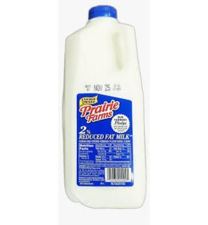 PRAIRIE FARMS 2% MILK 1/2GAL