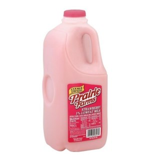 PRAIRE FARMS STRAWBERRY MILK HALF GAL