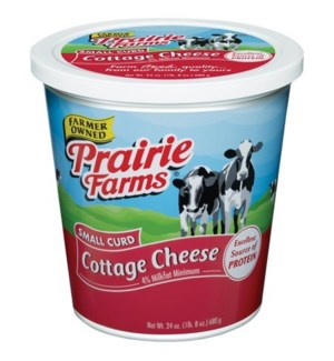 PRAIRIE FARMS SMALL CURD COTTAGE CHEESE 24OZ