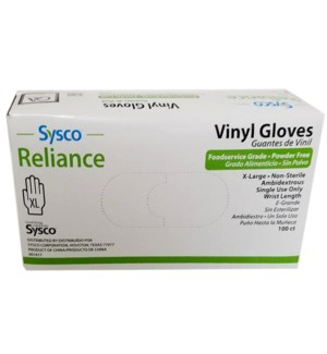 SYS VINYL GLOVES XL 100CT