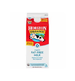 HORIZON ORGANIC MILK FAT FREE 64OZ