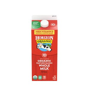 HORIZON ORGANIC MILK VIT D 64OZ