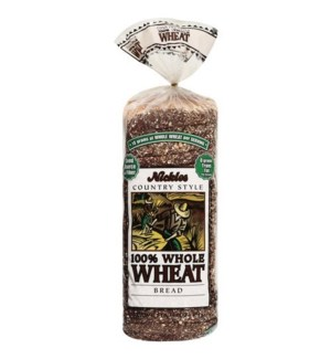 NICKLE'S 100% WHOLE WHEAT BREAD 16OZ