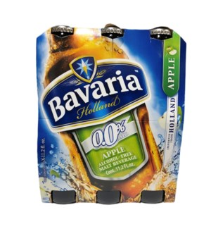 BAVARIA APPLE MALT NON-ALCOHOLIC DRINK 11.2OZ  6 PACK