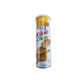 SENSIBLE VEGGIE CHIPS CHEDDAR CHEESE (CAN) 5 OZ