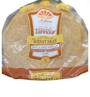AL SHAMS WHOLE WHEAT TANNOUR BREAD 8 CT