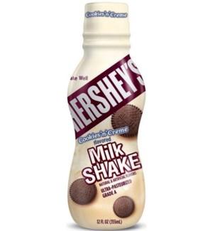 HERSHEY'S COOKIES'N'CREME MILK SHAKE 12 OZ