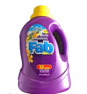 FAB BOLD LAUNDRY DETERGENT 50OZ