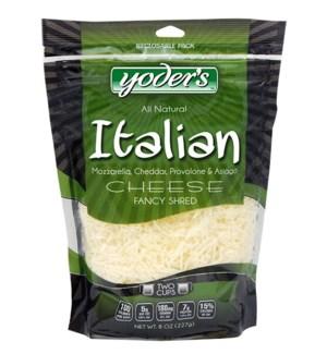 YODERS ITALIAN FANCY SHRED CHEESE 8OZ