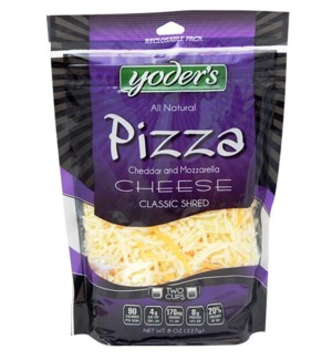 YODERS PIZZA SHRED CHEESE 8 OZ