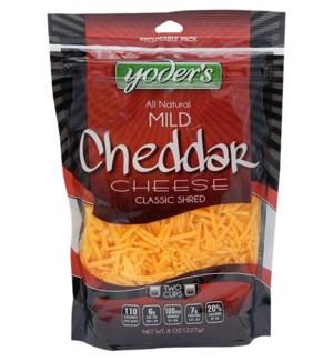 YODERS CHEESE SHRED REGULAR CHEDDAR 8OZ