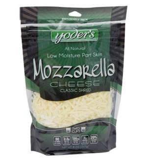 YODERS MOZZARELLA SHRED CHEESE 8 OZ