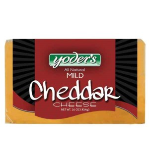 YODERS MILD CHEDDAR CHEESE 16 OZ