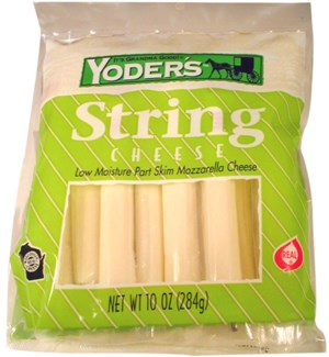 YODERS STRING CHEESE 10 CT 10 OZ