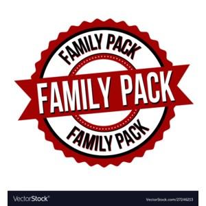 FAMILY PACK SAVINGS!!