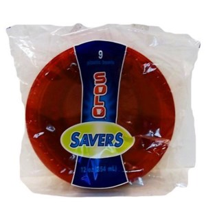 SOLO SAVERS PARTY BOWLS RED 9CT