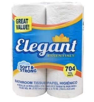 BATH TISSUE ELEGANT 4-RL