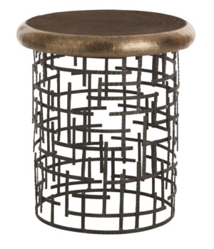 Capelli Iron/Brass Side Table