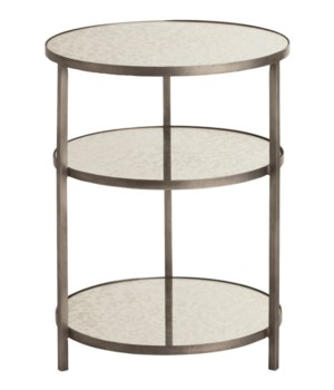 Percy Zinc Finish, Mirror End Table