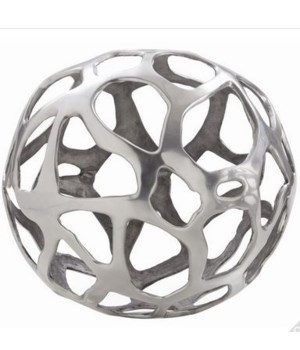 Ennis Large Polished Nickel Web Sphere