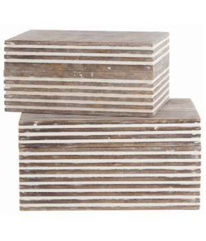 Trinity Small Wooden Boxes, S/2