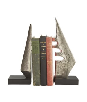 Kristopher Bookends, Set of 2