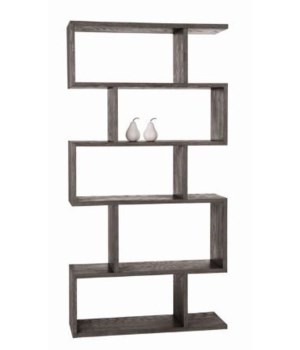 Carmine Grey Limed Oakd Bookshelf