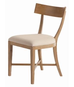 Caden Natural Limed Oak Veneer/Linen Chair