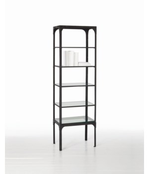 Ewen Iron/Glass Display Cabinet