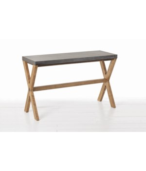 Jerald Metal Clad, Wood Console Table