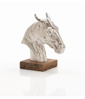 Leighton Cast Aluminum/Wood Sculpture