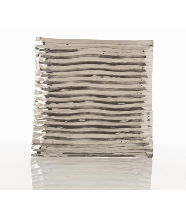 Triston Small Square Polished Nickel Tray
