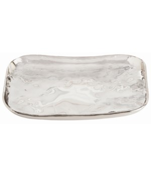 Sofia Small Rectangular Polished Nickel Tray