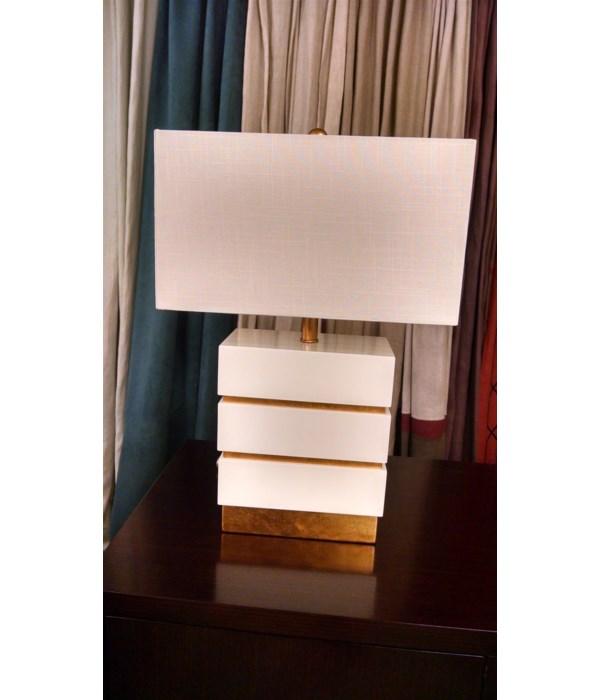 Simeon Table Lamp, Gloss White