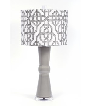 Imperial Bisque Grey Glaze Acrylic Lamp