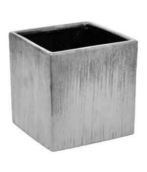 Silver Ceramic Planter