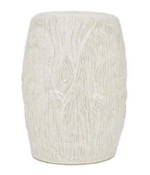Ceramic Stool, Ivory