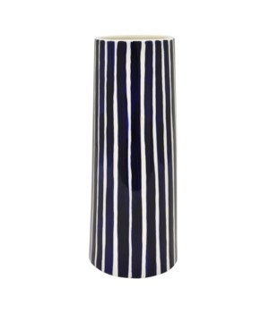 Blue Stripes Porcelain Vase