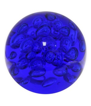 Bubble Glass Orb, Blue
