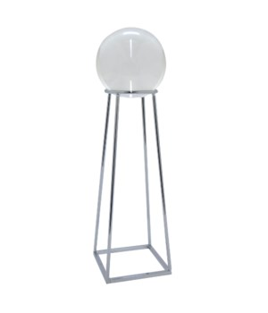 Glass Sphere on Metal Stand