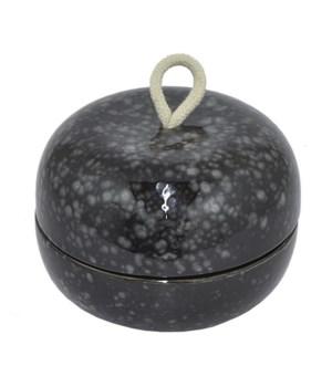 Black Ceramic Round Box