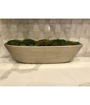 Moss Mount Lg Sized Pearl Colored Oval Container