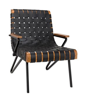 Laramy Chair, Metal with Leather
